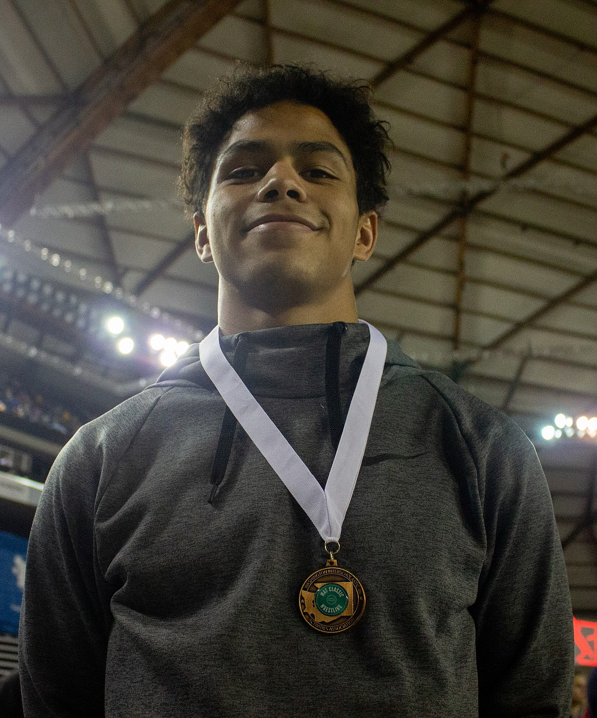 Casey McCarthy/Columbia Basin Herald Moses Lake's Lerenz Thomas grabbed the eighth place finish in the 4A 138-pound division at the Mat Classic in Tacoma over the weekend.
