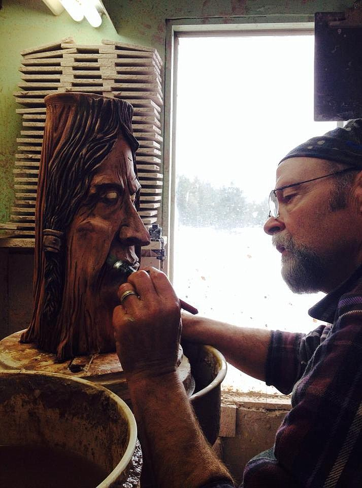 Tom Briney works in his Creston studio. (Courtesy photos)