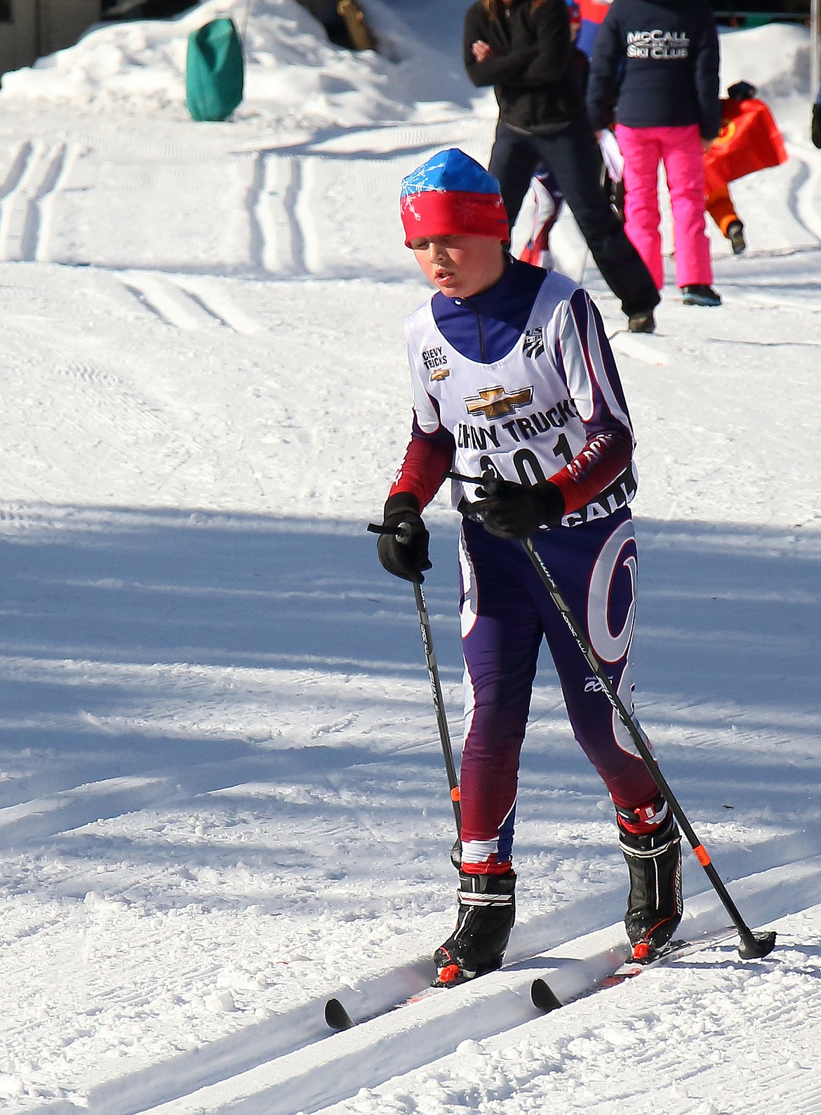Glacier Nordic athlete Henry Tate races in McCall, Idaho. (Photo courtesy Wayne Petsch)