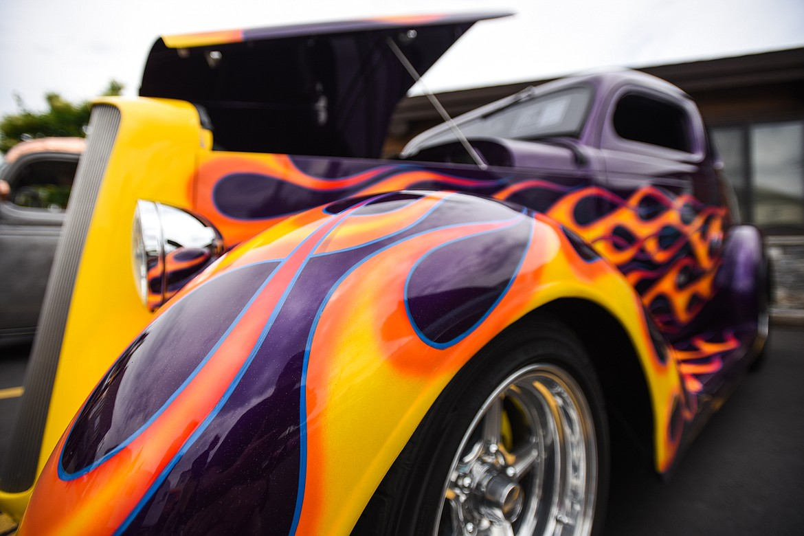 A 1936 Plymouth Coupe at The Big Shindig car show hosted by The Glacier Street Rod Association and The Desoto Grill in Kalispell on Saturday, June 20. (Casey Kreider/Daily Inter Lake)