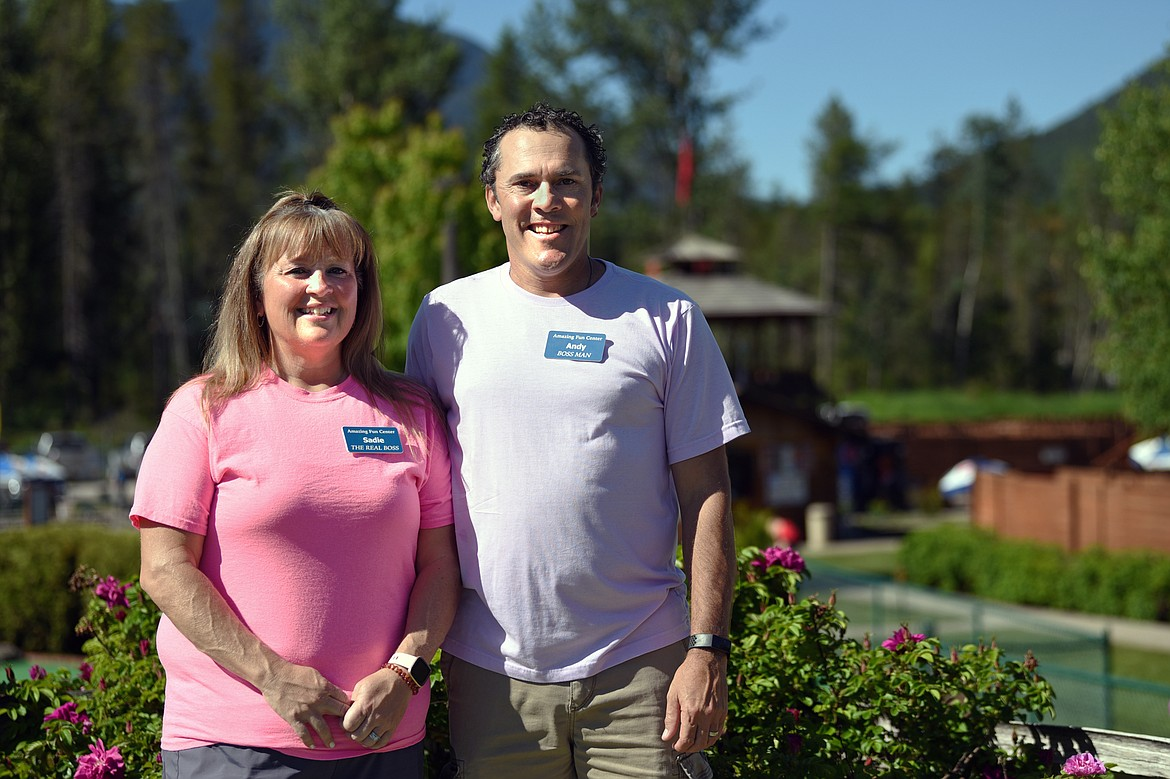 Sadie and Andy Hergesheimer are the newest owners of the Amazing Fun Center in Coram.