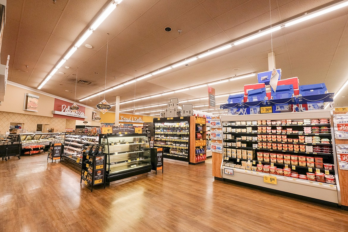 The Whitefish Safeway has recently completed a multi-month remodel project, which includes expanded meat, alcohol and produce sections, among others, as well as self-checkout and grocery pickup services. (Daniel McKay/Whitefish Pilot)