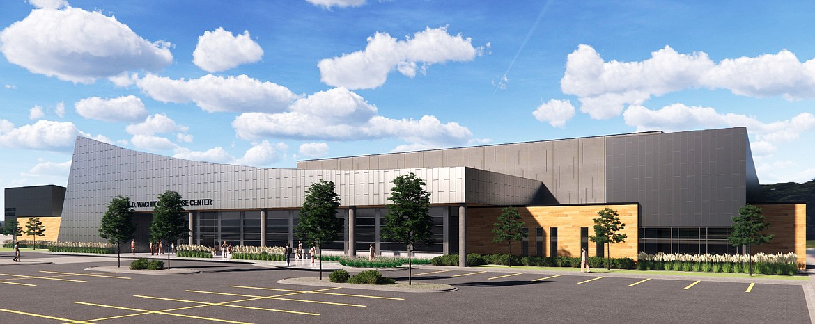 A rendering of the Paul D. Wachholz College Center which is scheduled to be completed at Flathead Valley Community College in January 2022. (Courtesy photo)