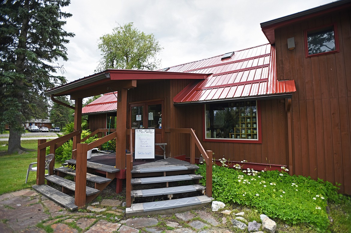 The entrance to the Montana Coffee Traders Mercantile location along U.S. 93 south of Whitefish.