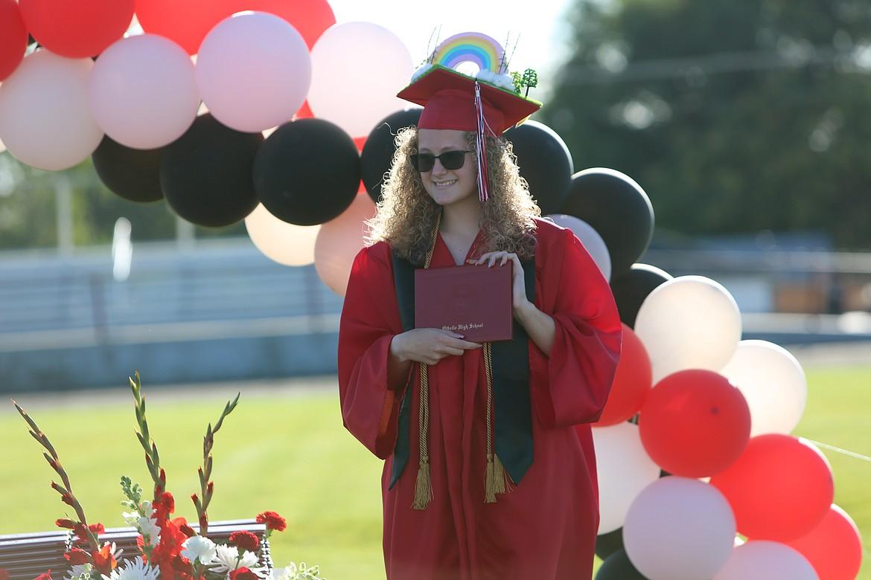 Emry Dinman/Columbia Basin Herald   Othello High School ushered off its 2020 graduates with an unorthodox ceremony.