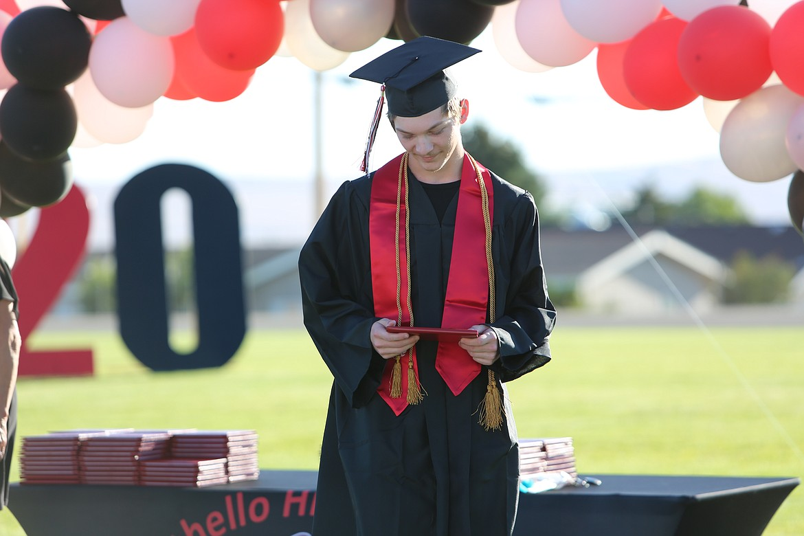 Emry Dinman/Columbia Basin Herald   Othello High School ushered off its 2020 graduates with an unorthodox ceremony.
