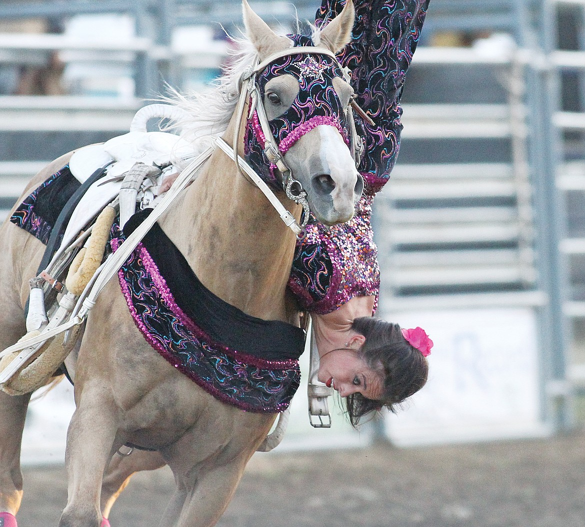 Madison MacDonald-Thomas knew she wanted to become a trick rider at a young age and has perservered through serious injuries. (Paul Sievers/The Western News)