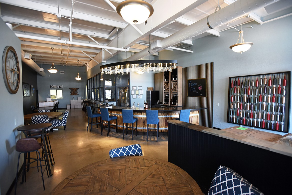The interior of Water's Edge Winery & Bistro is focused on the theme of wine.