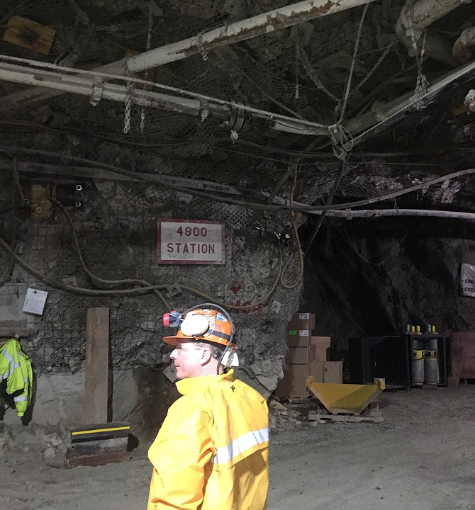 Larry Radford felt right at home in the stopes of Lucky Friday silver mine in Mullan.