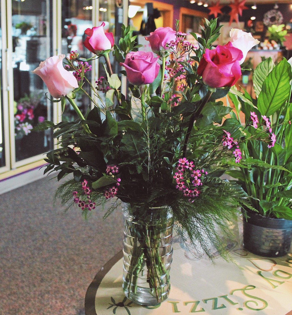Freshly cut flowers are an excellent choice for a Valentine's Day gift. These are from Sugar Plum Floral and Gifts.