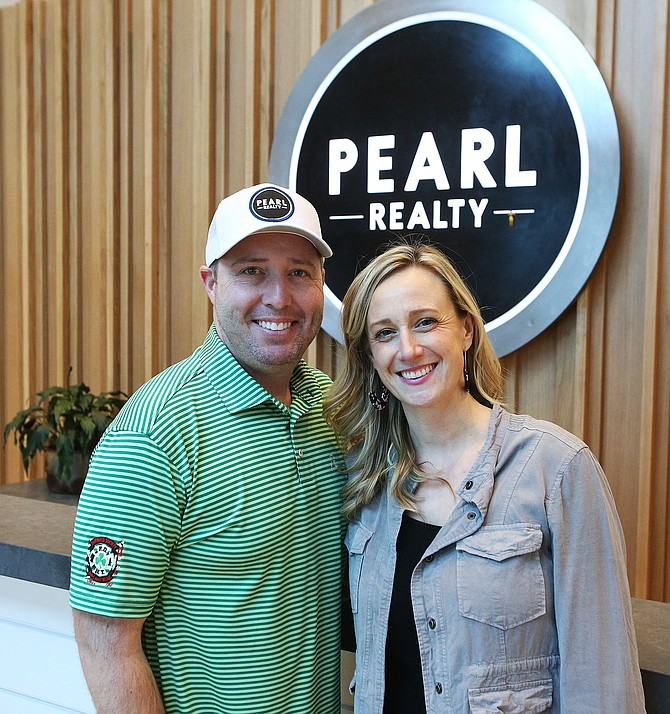 LOREN BENOIT/BJNI   Joel and Karen Pearl started on their real estate journey 16 years ago. Joel began his real estate career after working as a caddy. Karen worked at the Coeur d'Alene Press as a reporter for two years.