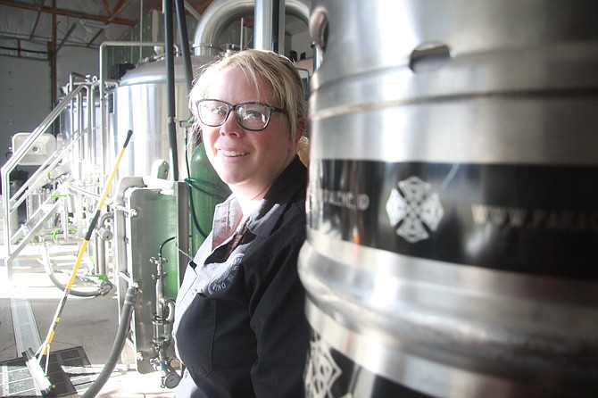 Kerry Kiernes of Paragon Brewing is among a handful of women beer brewers in the region. She said the brewery field offers a great opportunity for women to become head brewers.