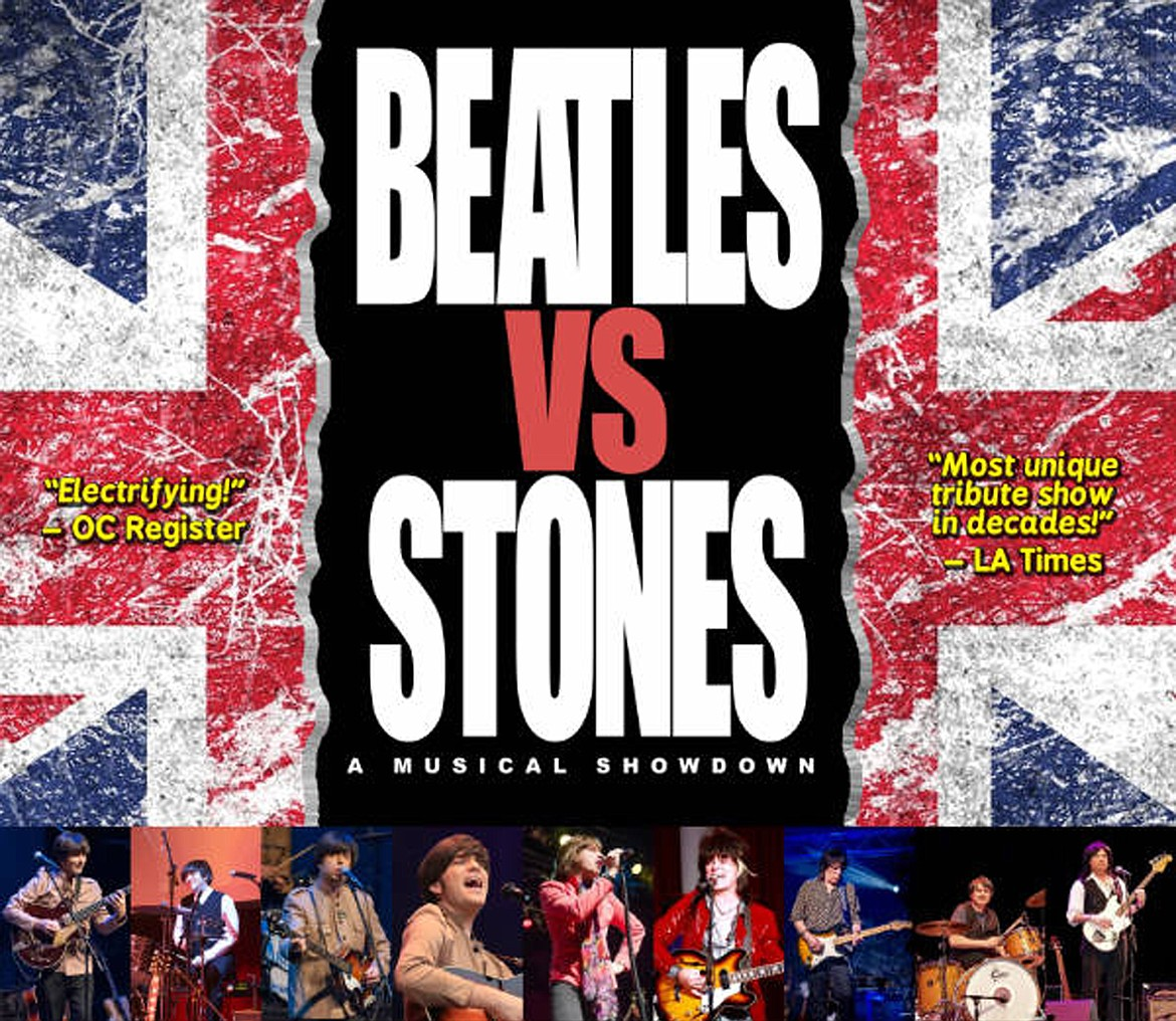 It's the battle of the Beatles and Stones tributes bands on Friday, Feb. 28.