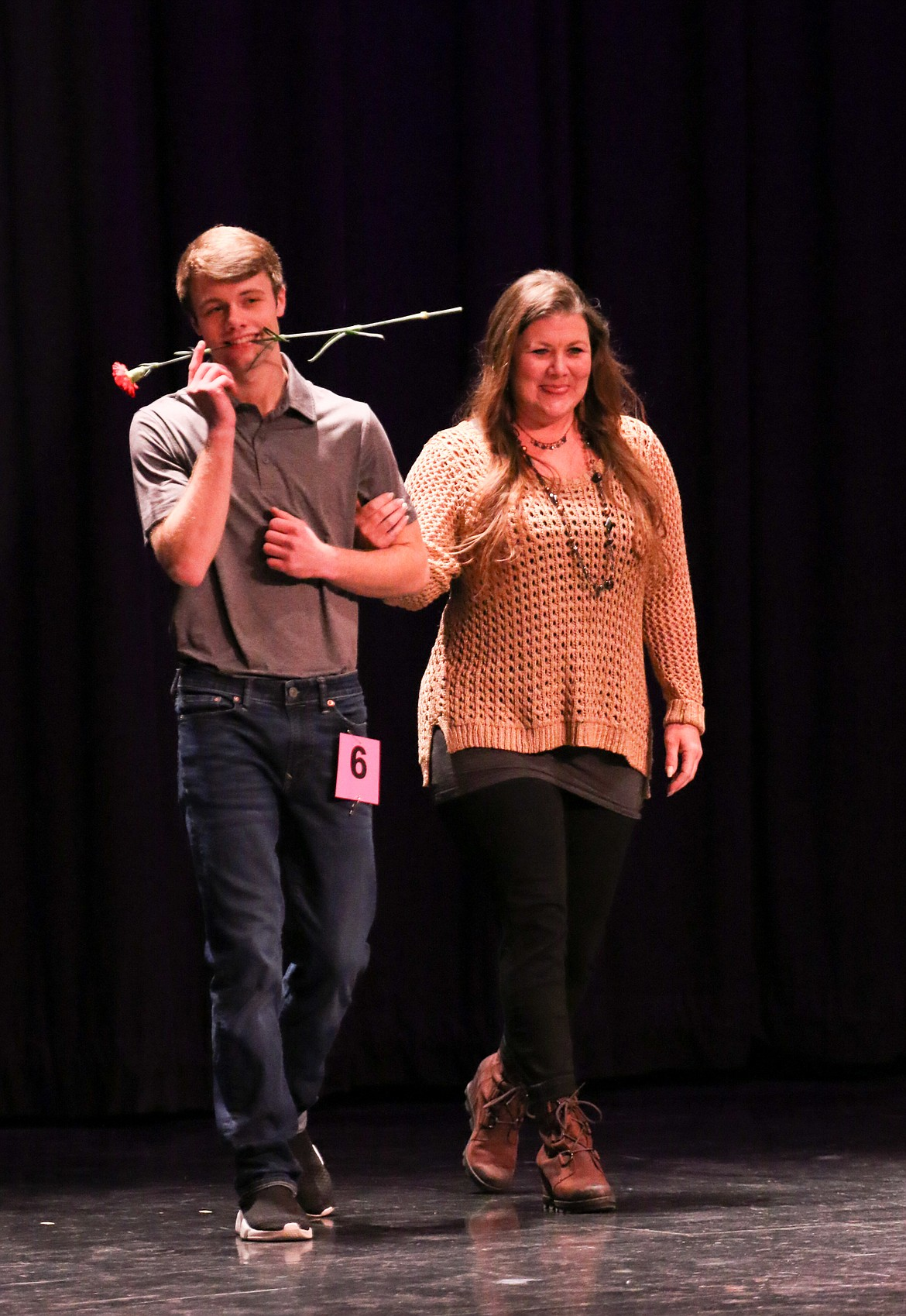 Photo by MANDI BATEMAN   2020 Mr. BFHS Battle of the Decades: Mitchell Falck with his mother, Casey.