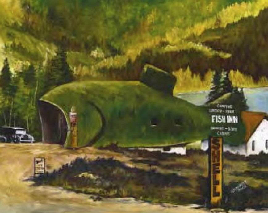 """Fish Inn"" by Janet Launhardt (Courtesy City of Coeur d'Alene)"