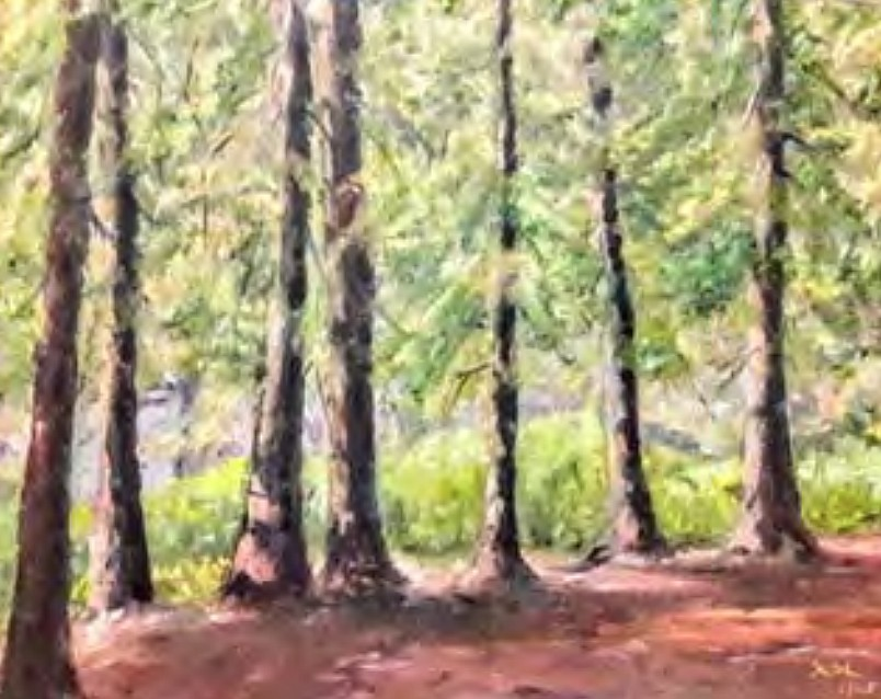 """""""Home in the Trees"""" by Christina Oss Labang (Courtesy City of Coeur d'Alene)"""