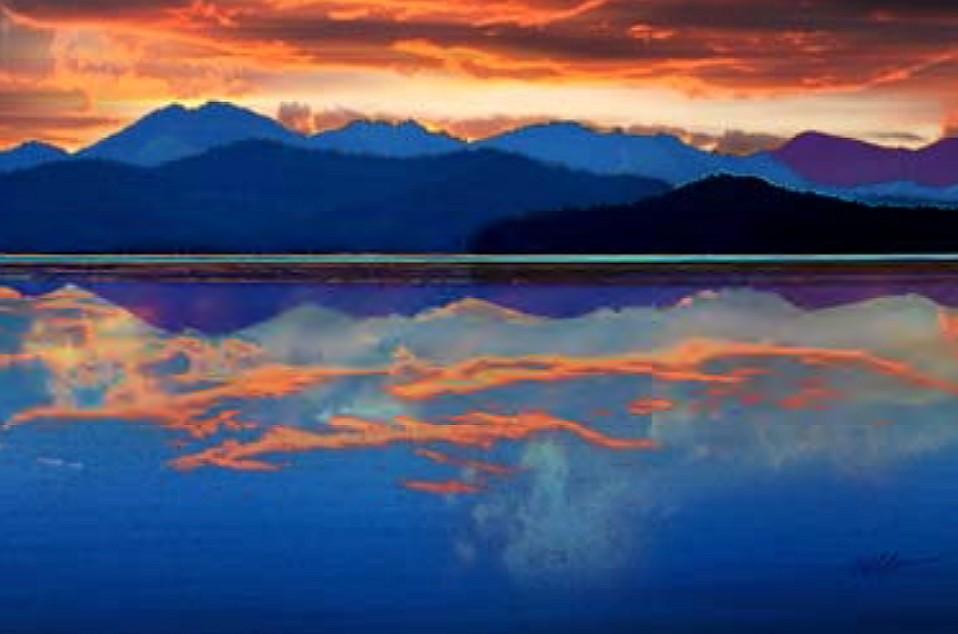 """""""Western Sky"""" by Gay Waldman (Courtesy City of Coeur d'Alene)"""