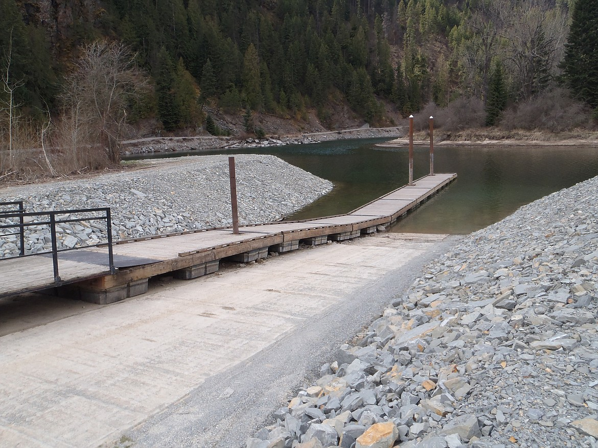 (Photo courtesy ROB JAKOBOWSKI/Avista)   The Johnson Creek boat launch is pictured in April 2020 after recent improvements.