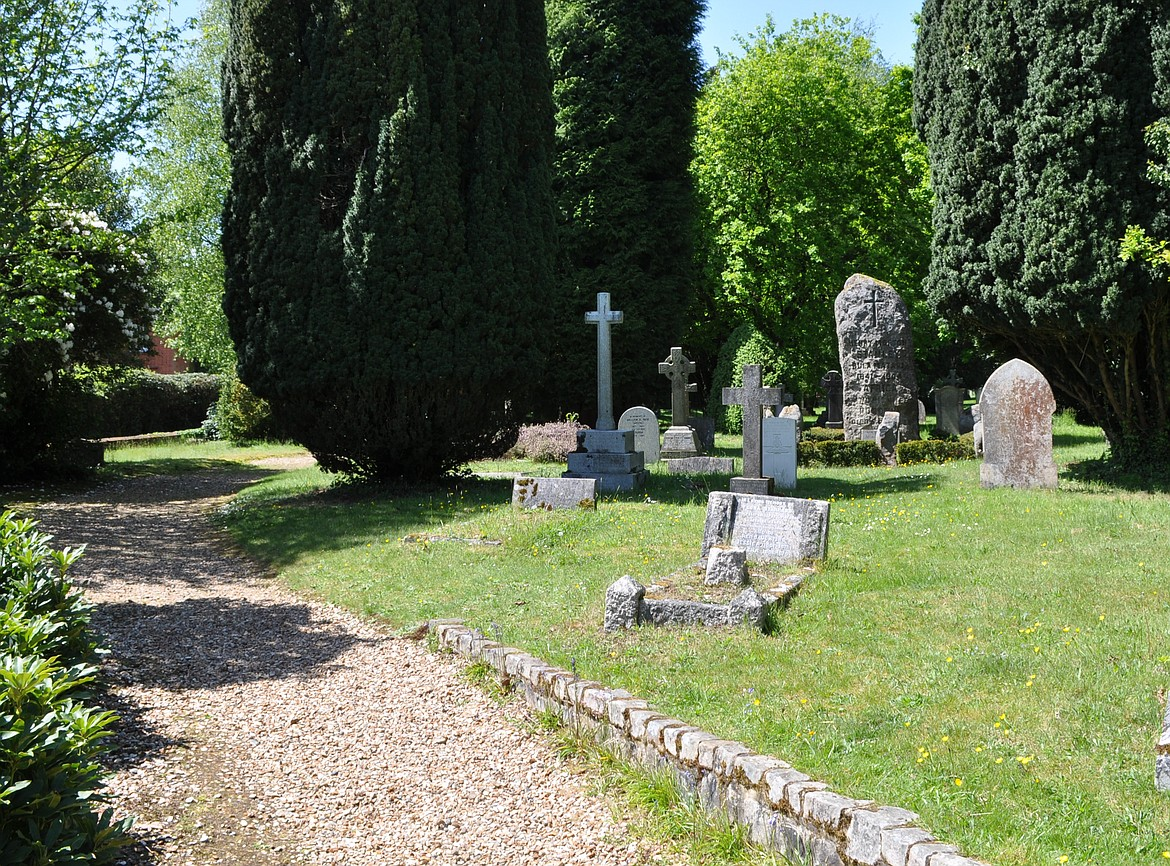 WIKIMEDIA COMMONS   Henry Morton Stanley gravesite in Surrey, England, is the tall stone grave marker in back.