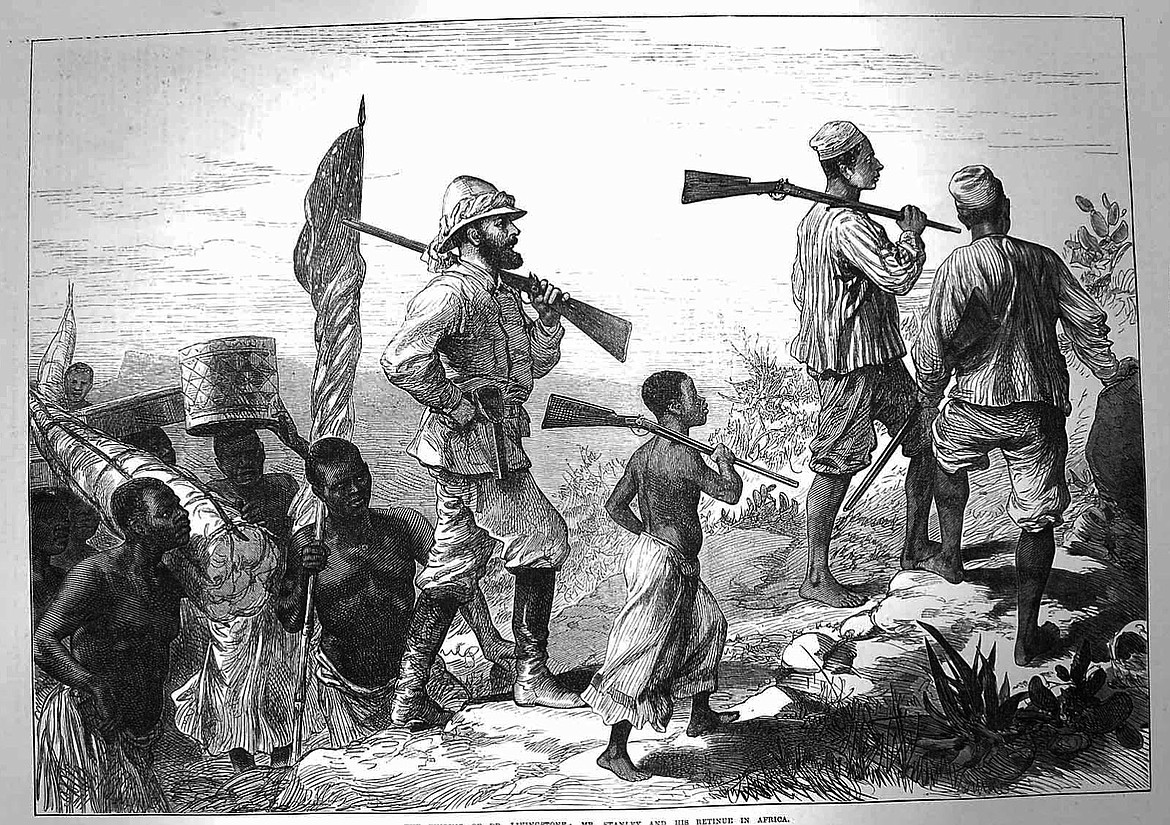GOOGLE IMAGES   Henry Morton Stanley trekked 550 miles to find Dr. David Livingstone in Ujiji on the shores of Lake Tanganyika.