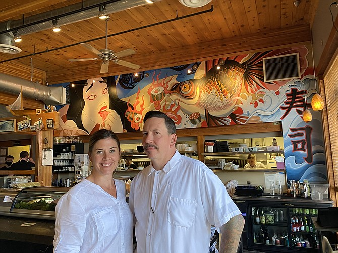 Owners Autum and Vijol Basso inside Syringa Japanese Cafe & Sushi Bar.