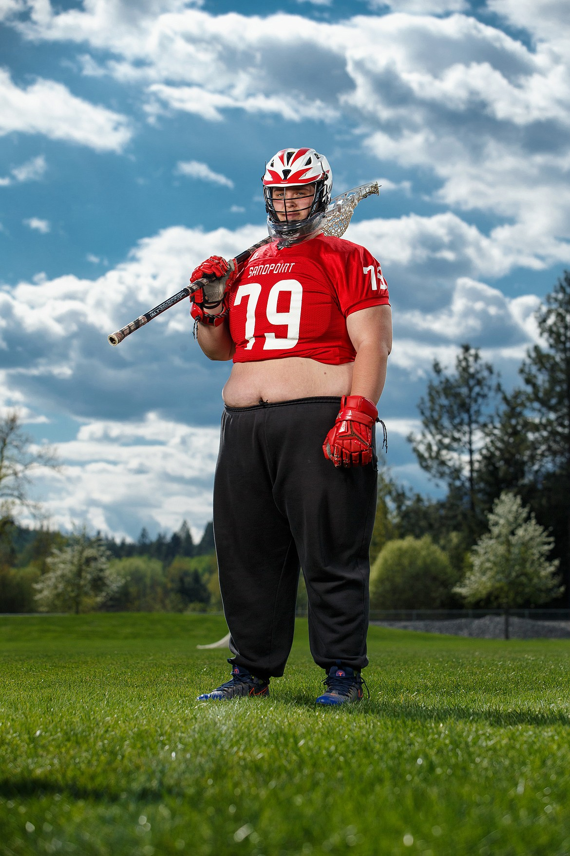 """Greg Steiner joined the Sandpoint lacrosse team as a sophomore and became the team's starting goalie last year. Head coach Ken Hutchings said Steiner was fearless in net. """"I never saw him flinch,"""" he said."""
