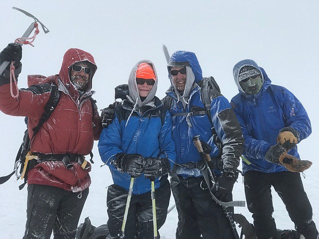 Trail Life troop led by Steve Meyer at Candlelight Church climbed 12,281 foot Mt. Adams in early July. (Courtesy photo)