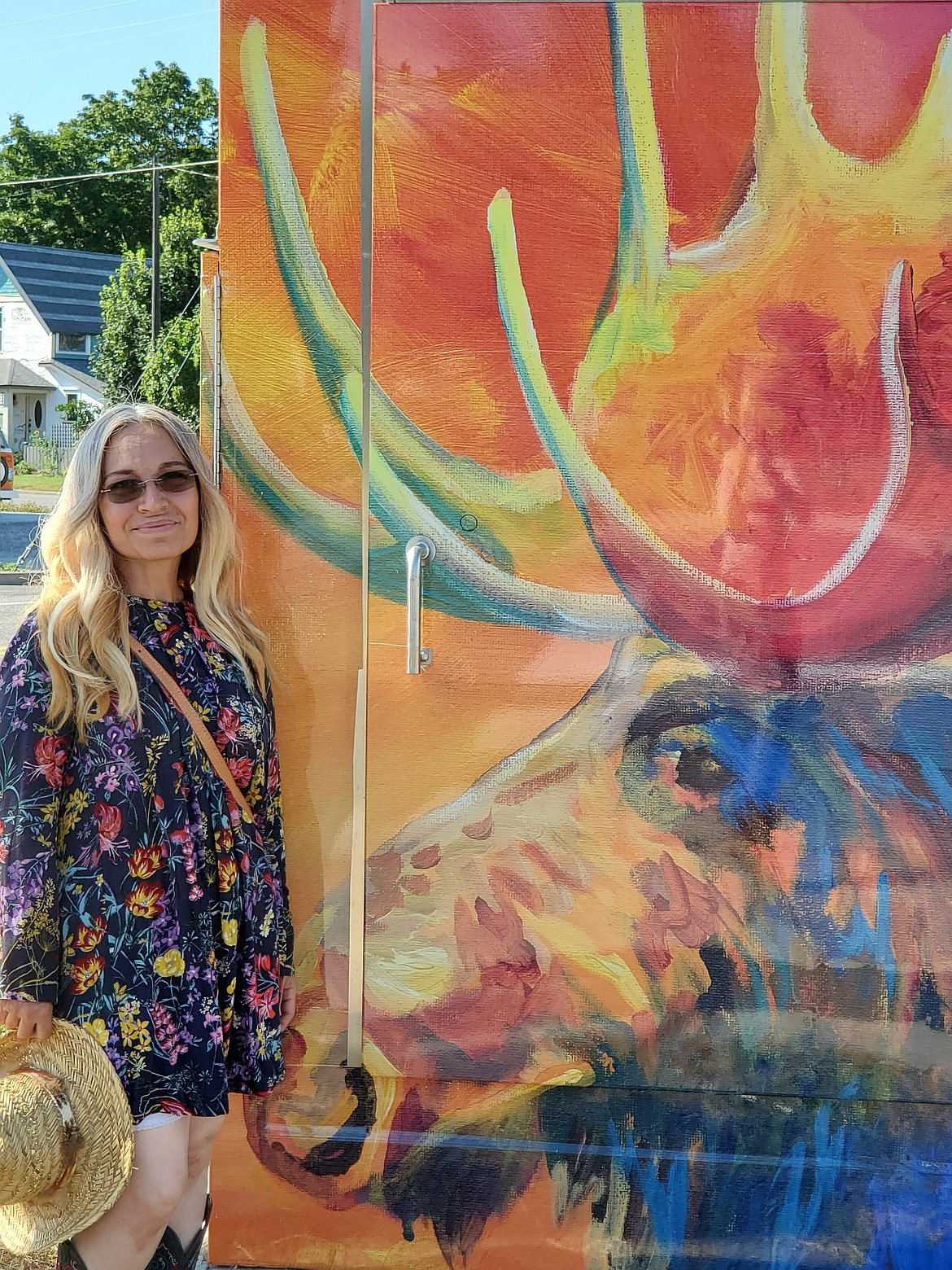 From a young age, Maggie Dawson knew art was a part of who she was. Her mural of a moose is a fan favorite as part of a collaborative project by the Sandpoint Arts Commission and Historic Preservation Commission to wrap the city's utility boxes with artwork and historic photos.