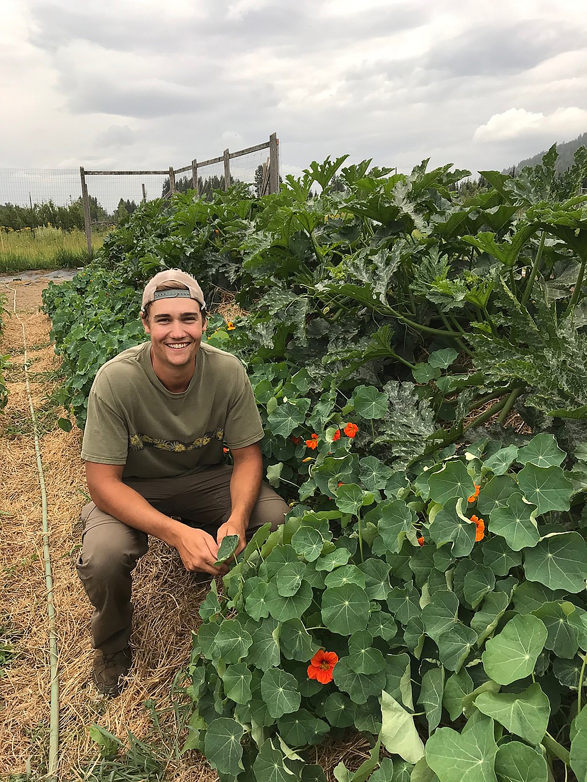 The center donated several hundred pounds of produce to the Bonner Community Food Bank. Youngdahl used a broad fork tool instead of a tiller and utilized methods such as Hugelkultur beds, shown here, to improve soil conditions and to make care taking easier, in the long run.