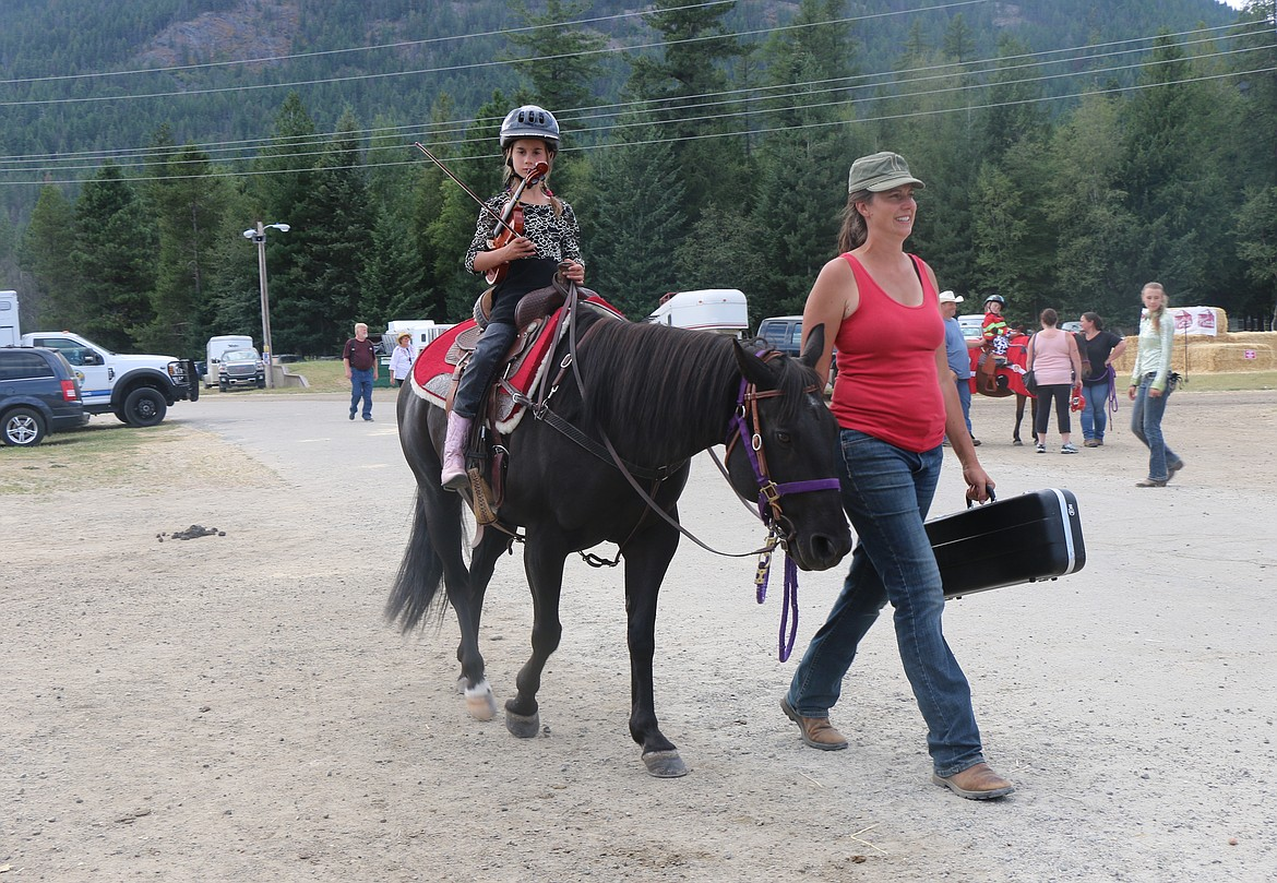 A young horsewoman takes part in an event at last week's fair.