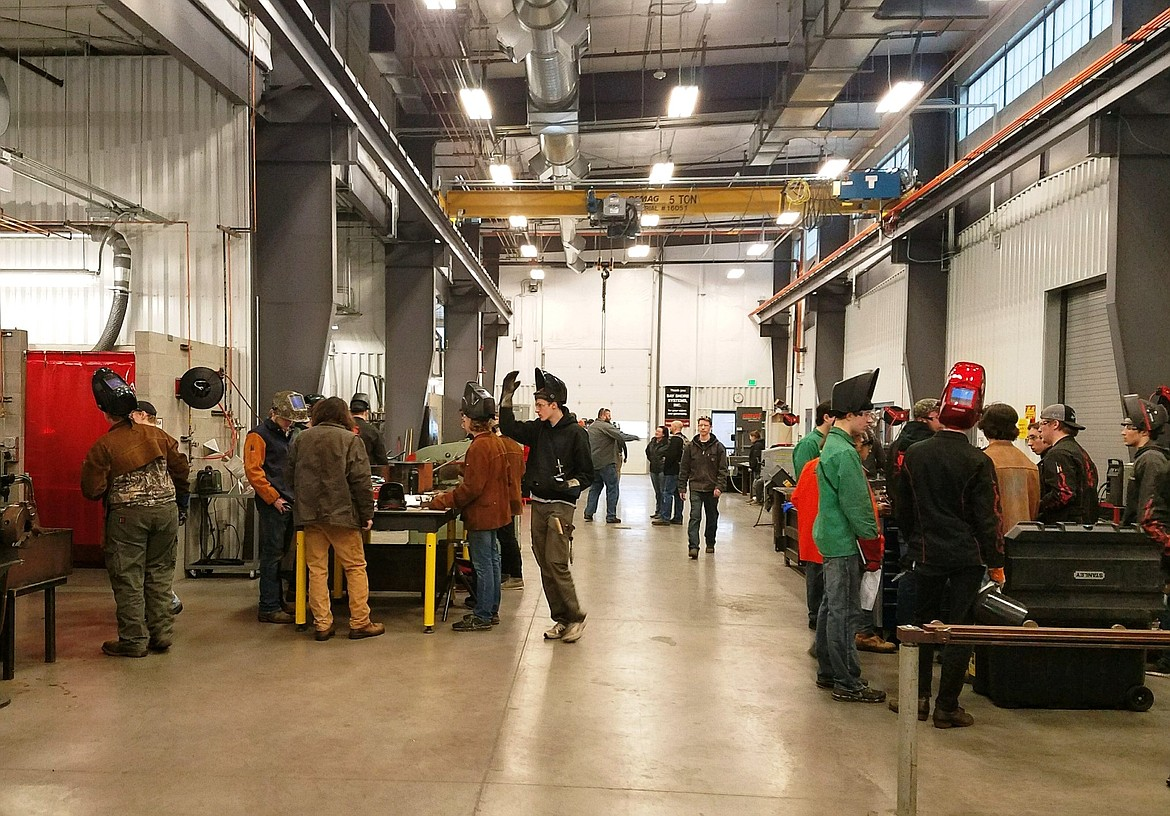 Pictured is the 2018 regional Skills USA welding competition underway. The annual event is hosted by NIC, with winners eligible to go to the statewide Skills USA competition April 5-6 in Nampa, Idaho.