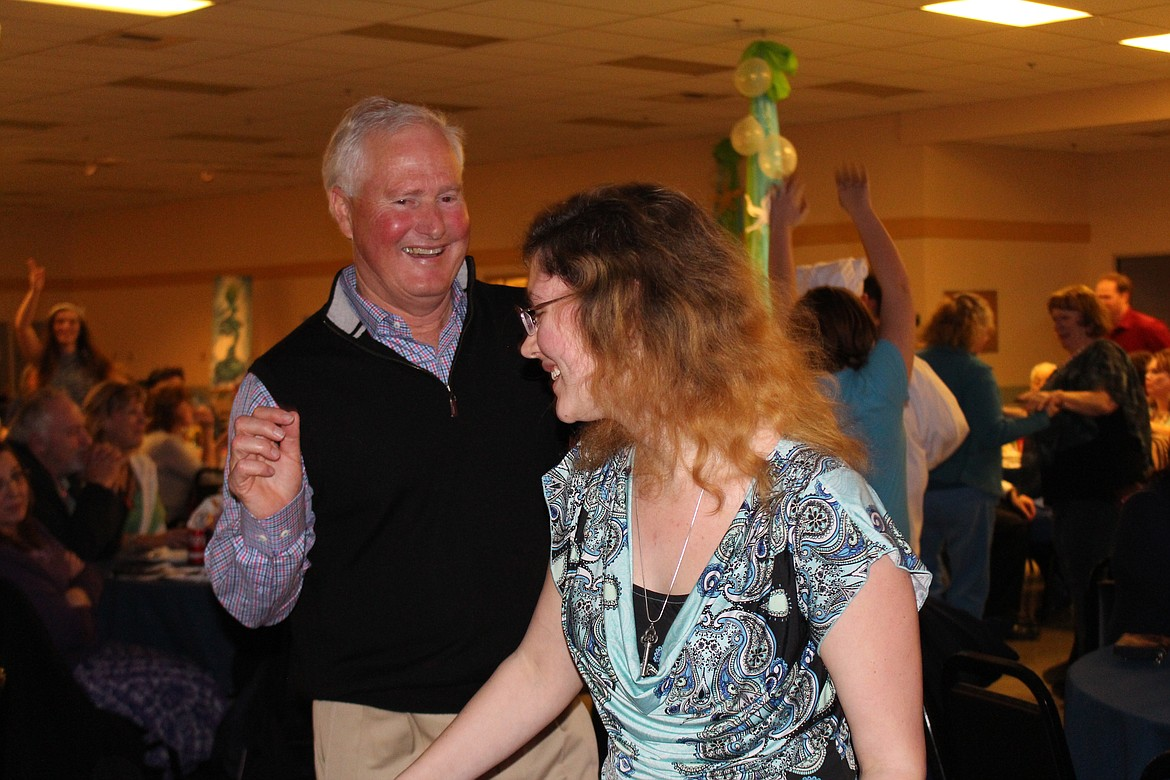 Cheryl Schweizer/Columbia Basin Herald Masquers cast members urged the audience to get up and dance during the company's performance 'Under the Sea' during the 2017 Columbia Basin Allied Arts soiree.