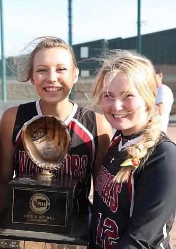 Courtesy photo ACH seniors Makenna Oliver, left, and Kendel Correia won't get a shot to defend their 1B state championship after winning the previous two as sophomores and juniors.