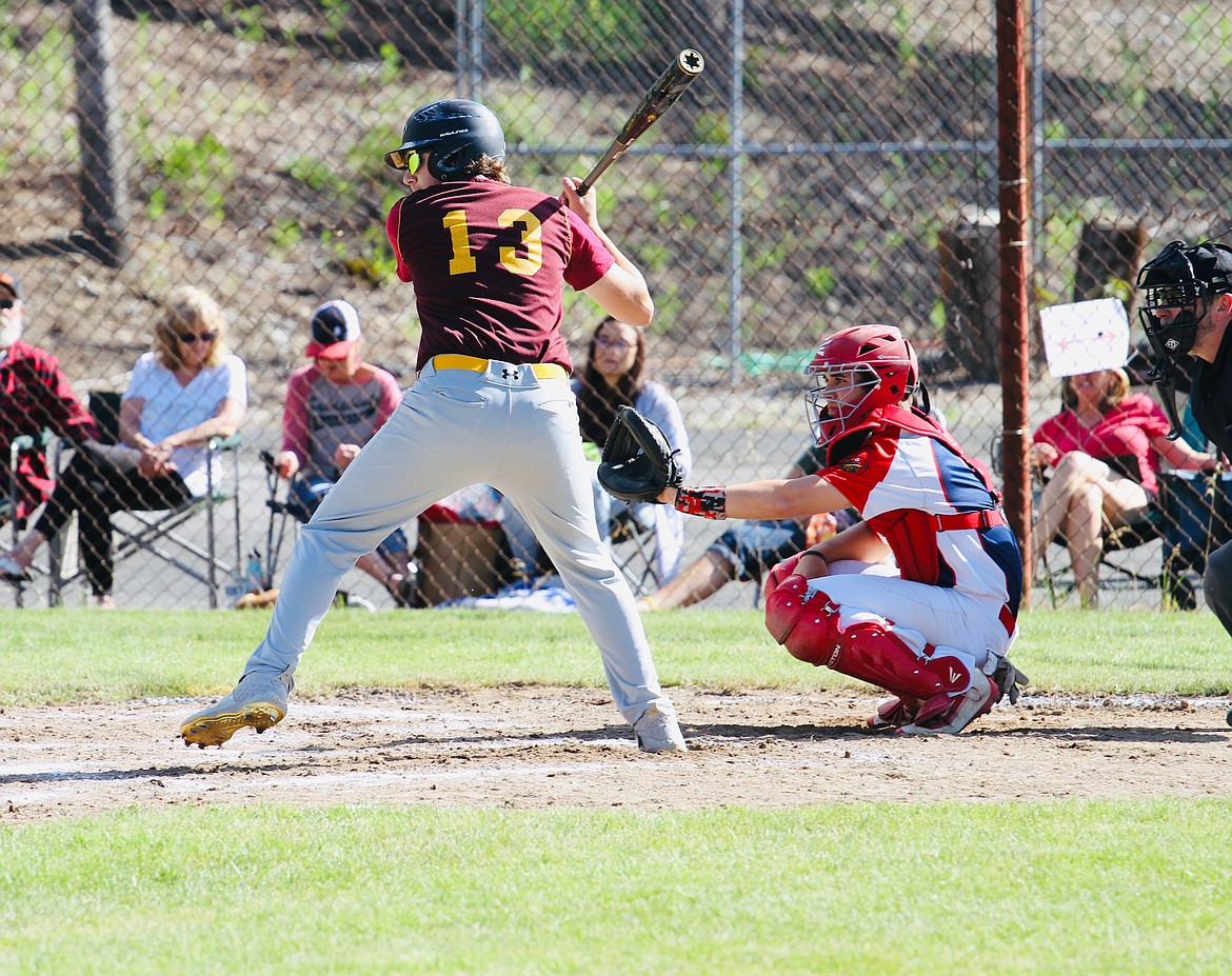 Logan Jerome winds up to swing for one of his many hits during the club's six-game run last week.