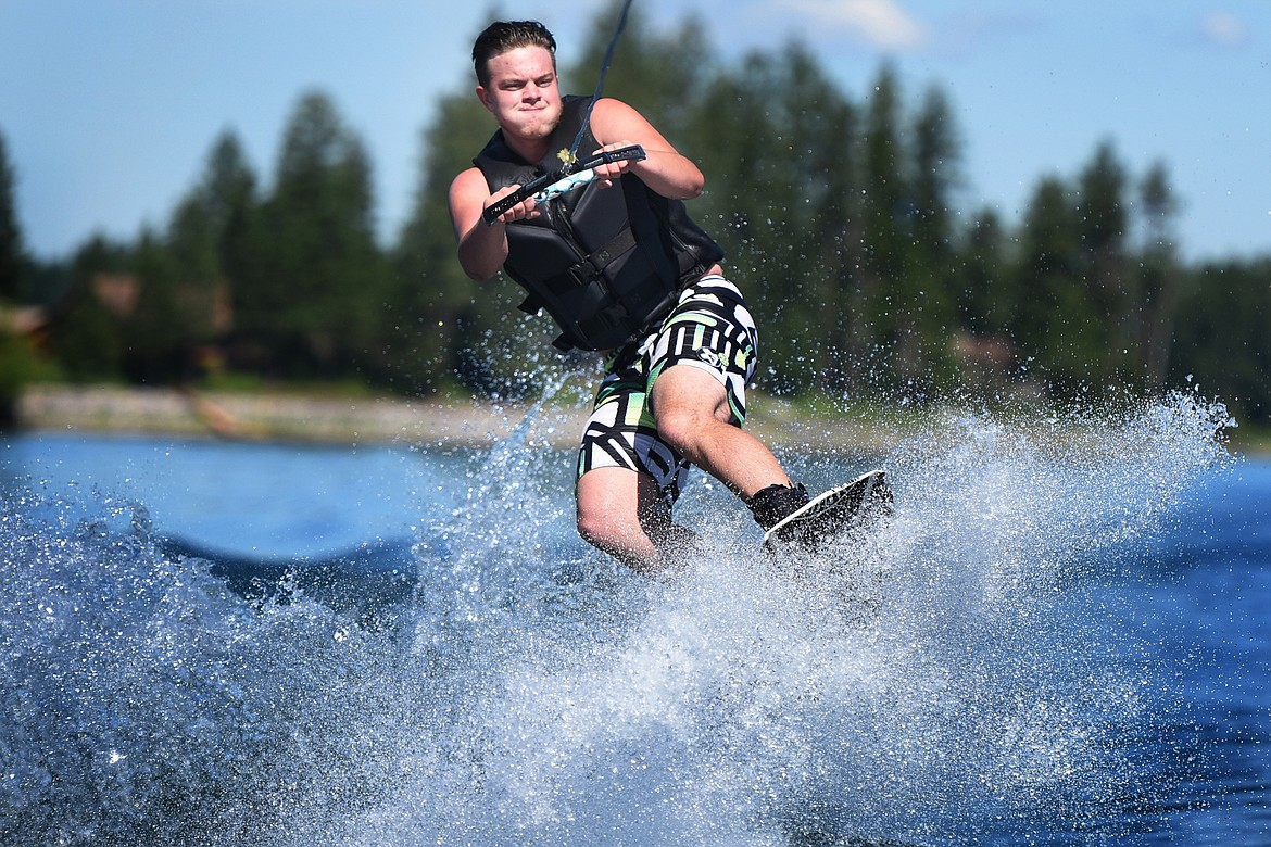 Kalispell's Kaden Nelson grabs some air while out with Flathead Wakeboard Academy. (Jeremy Weber/Bigfork Eagle)