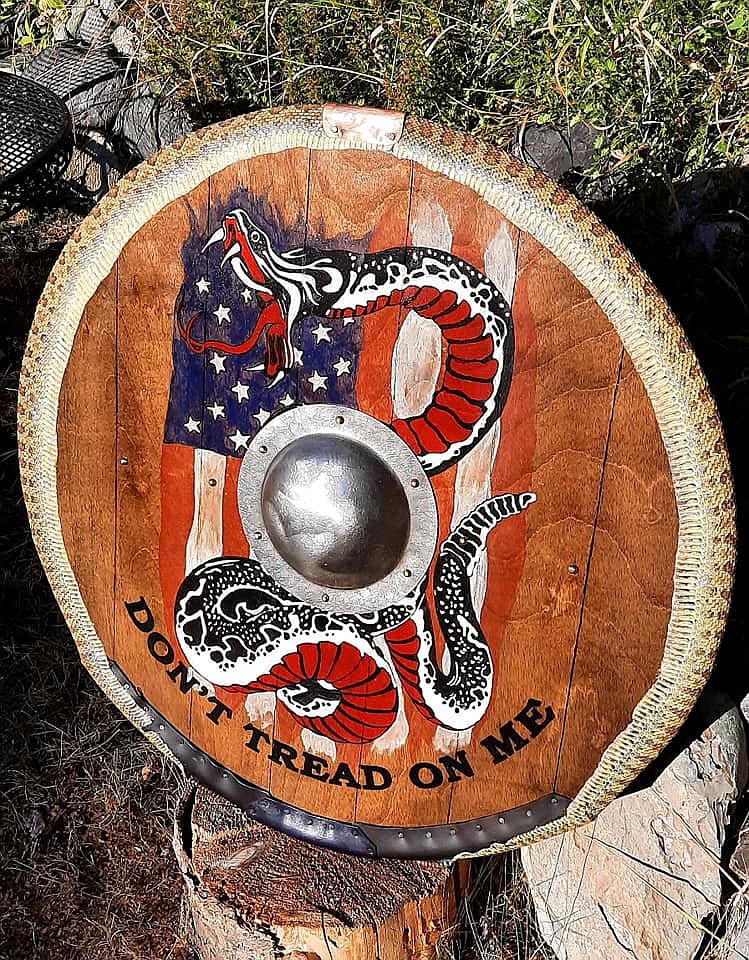 A shield by Roy Raymond, owner of Northalla Work Shop.