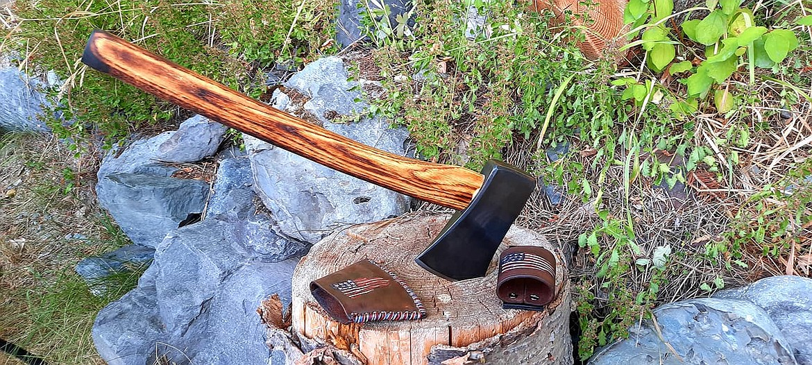 An axe by Roy Raymond, owner of Northalla Work Shop.