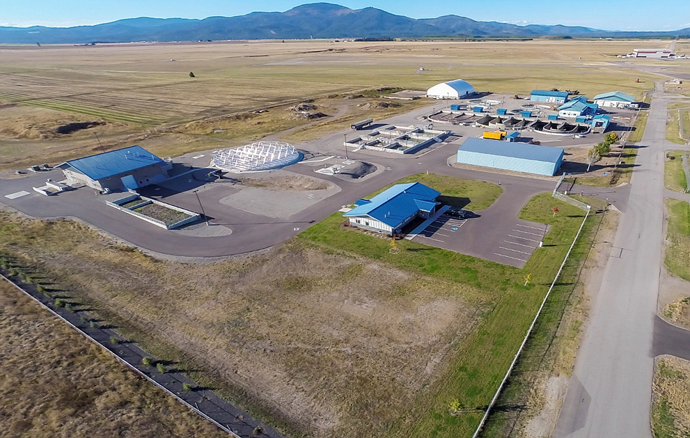 Courtesy of Ken Windram/HARSB An aerial image of the Hayden Area Regional Sewer Board treatment facility. Over 1 million gallons comes into the facility each day.