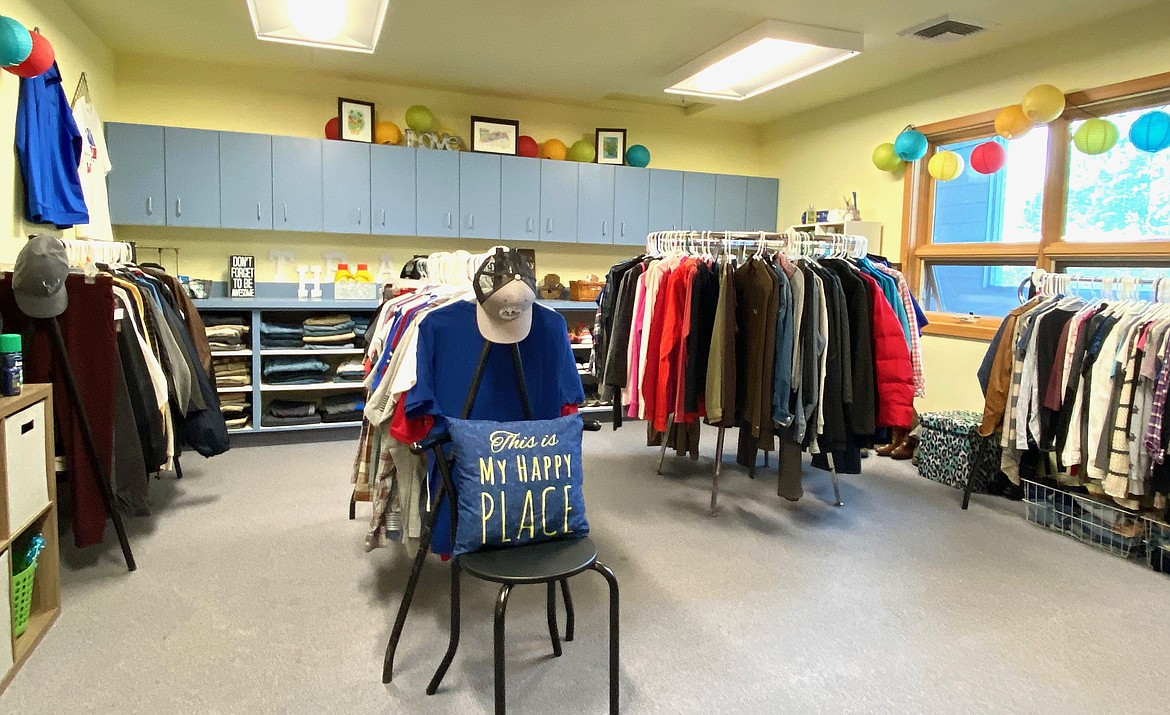 Threads recently relocated from the Bigfork Community Center to a new space at the Community United Methodist Church. The nonprofit contributes clothes and personal care supplies to Bigfork students and is open on Thursdays.