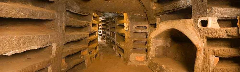 Pricilla Catacombs in Rome.