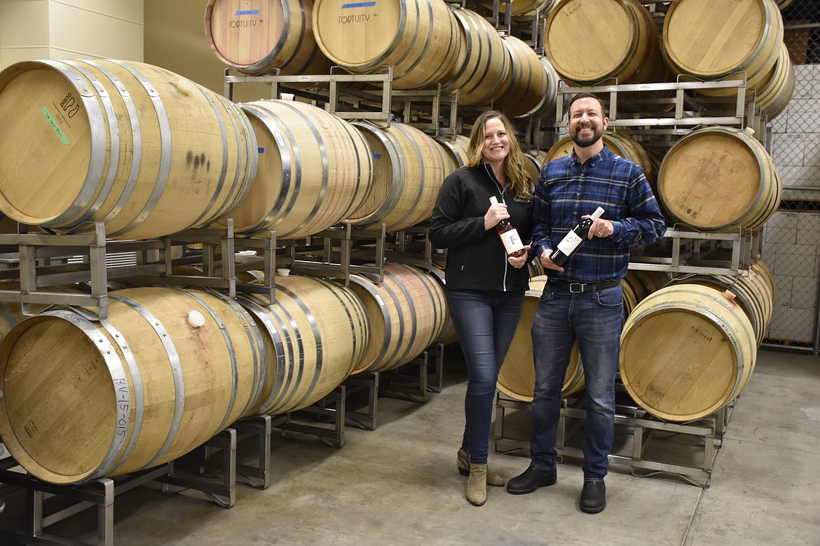 Emily and Lee Fergestrom of Fortuity Cellars, a small Yakima Valley winery that found itself unable to open its tasting room because of the COVID-19 outbreak.