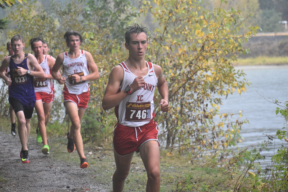 Senior Keegan Nelson competes in Saturday's William Johnson Sandpoint Invitational.