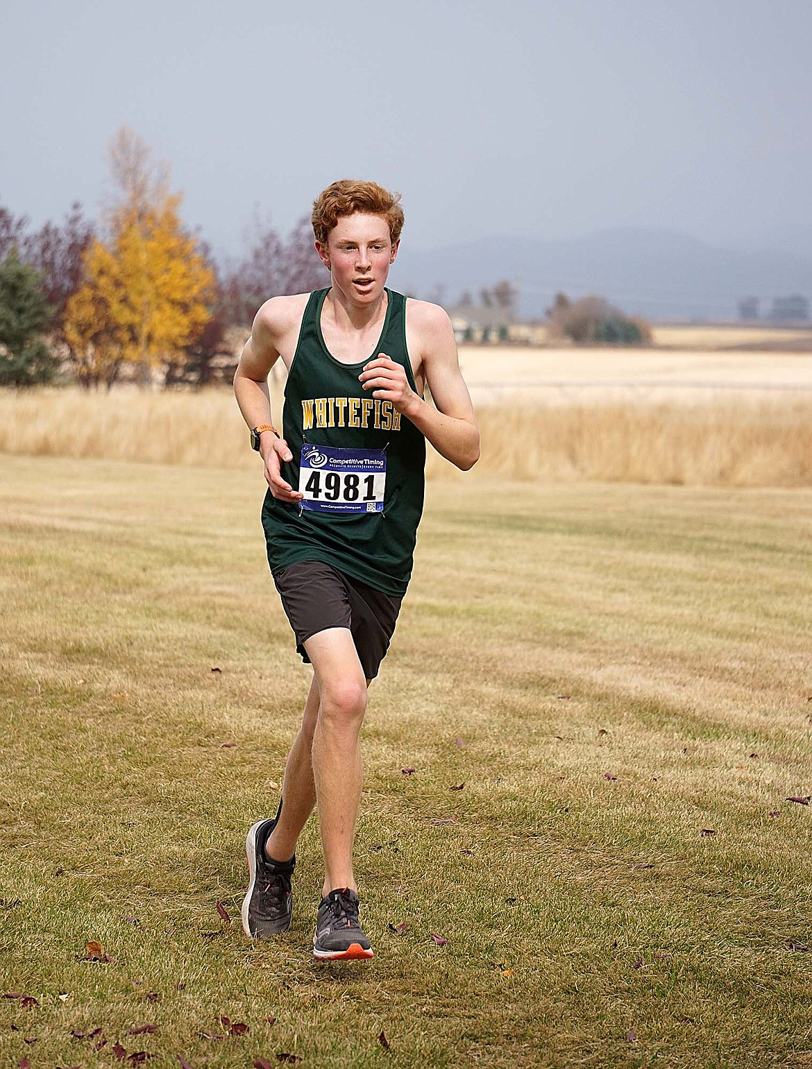 Bulldog Nate Inglefinger finished with a time of 18:43.58 Saturday during the cross country meet at Rebecca Farm. (Matt Weller photo)