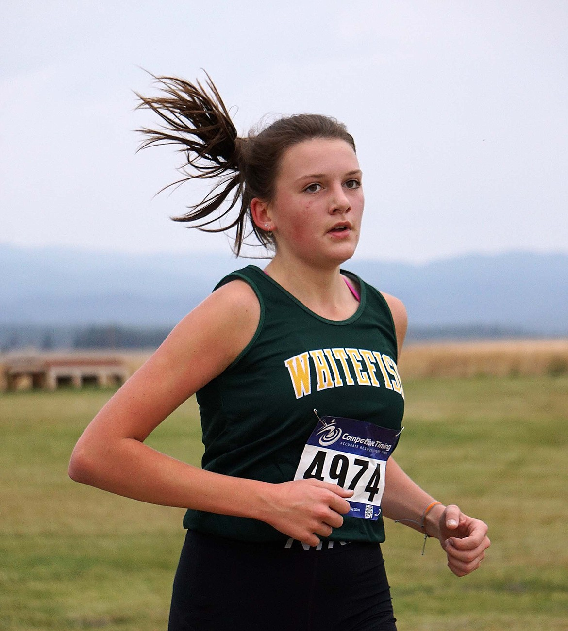 Bulldog Maggie Pulsifer finished with a time of 22:43.09 during the cross country meet Saturday at Rebecca Farm. (Matt Weller photo)