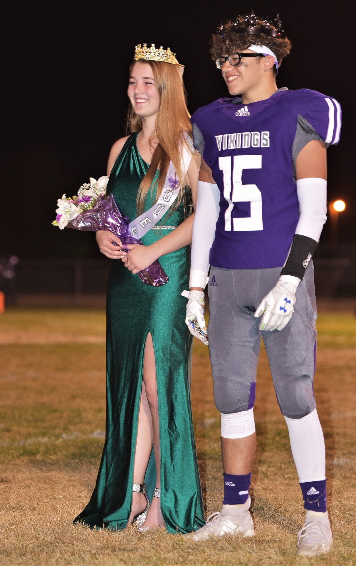 Charlo High School 2020 Homecoming Queen Aryal Love and King Phil Marquez. (Scot Heisel/Lake County Leader)