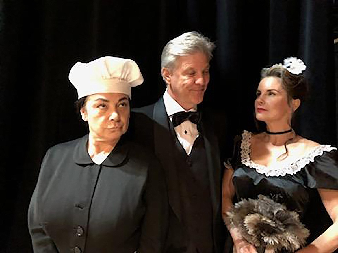 """Cast members for the """"Clue"""" staff pose for a photo. Originally a board game,  a stage production of """"Clue"""" will open on the Panida state on Thursday, Oct. 22."""
