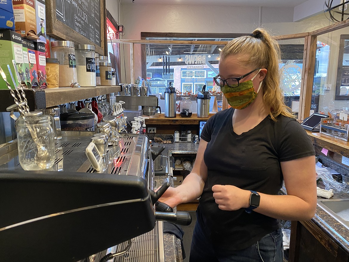 Madison Napierala, 20, grew up in Harrison and now works at the Cycle Haus Bikes and Brews cafe and bike shop. (MADISON HARDY/Press)