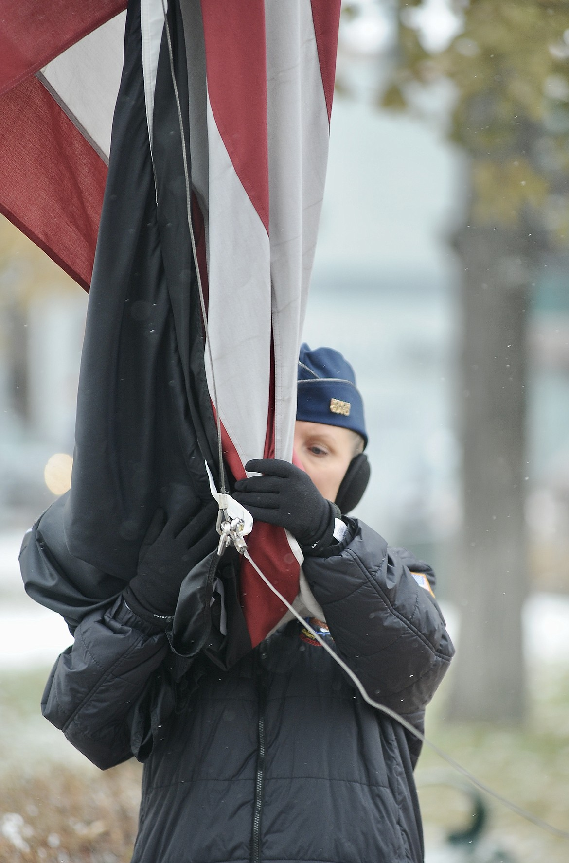 The United Veterans of the Flathead Valley hosted their annual Veterans Day ceremony Wednesday, Nov. 11, at Depot Park in Kalispell. (Matt Baldwin/Daily Inter Lake)