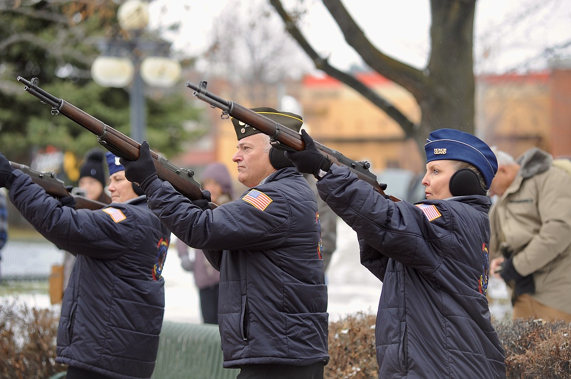 The United Veterans of the Flathead Valley will host their annual Veterans Day ceremony Wednesday, Nov. 11, at Depot Park in Kalispell.  (Matt Baldwin/Daily Inter Lake)