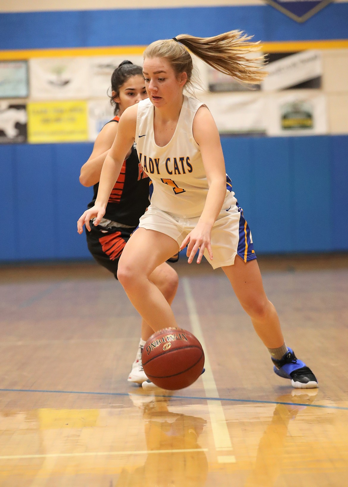 Katelyn Matteson drives toward the basket on Friday.